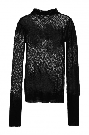 Sheer turtleneck sweater od Ann Demeulemeester