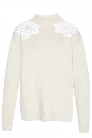 Lace-trimmed rollneck sweater od Chloe
