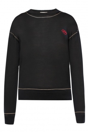 Appliqued sweater od Sonia Rykiel