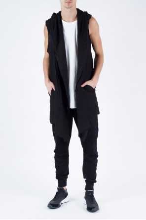 Long oversize hooded vest od Lost And Found