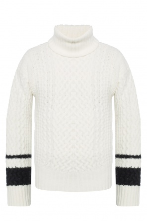 Turtleneck top with embroidered stripes od Haider Ackermann