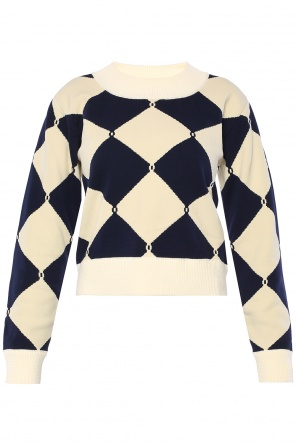 Cropped sweater with rhombs od Sonia Rykiel
