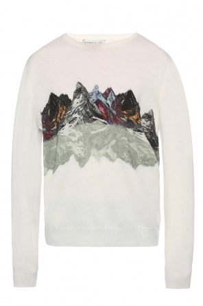 Mountain-print sweater od Etro