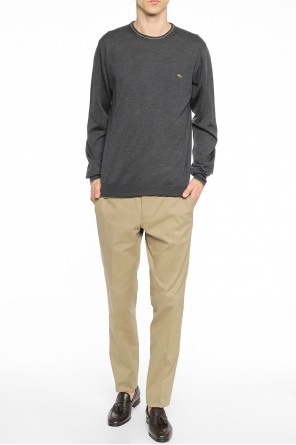 Logo-embroidered sweater od Etro