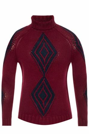 Turtleneck top with an embroidered pattern od Etro