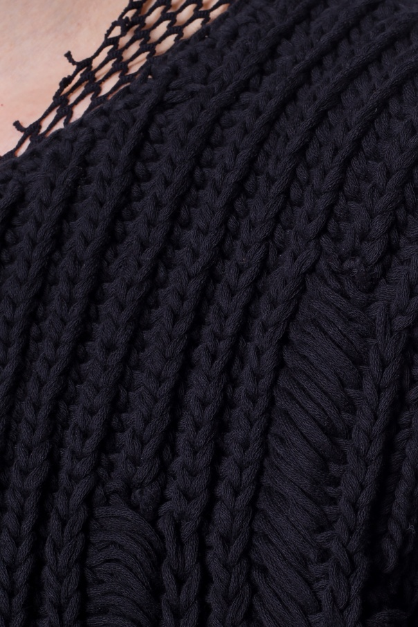 Ann Demeulemeester Pleciony sweter 9yo9Uaim