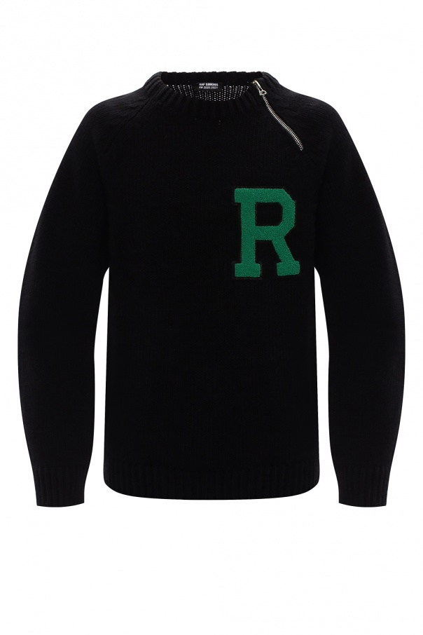 Raf Simons Ribbed sweater with logo