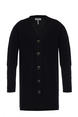 Cardigan with a raw finish od MSGM