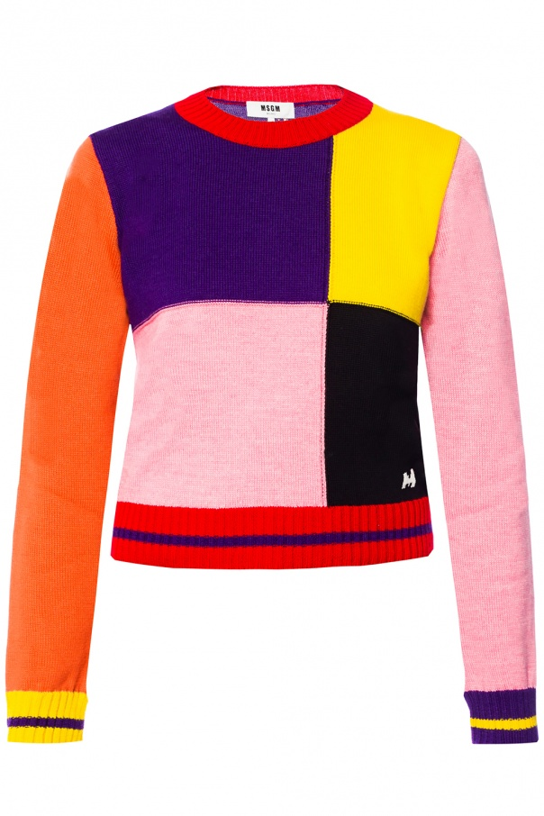Msgm Checked Od Checked Sweater Sweater RIwvqz8Tx