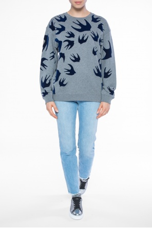 Sweatshirt with swallows od McQ Alexander McQueen