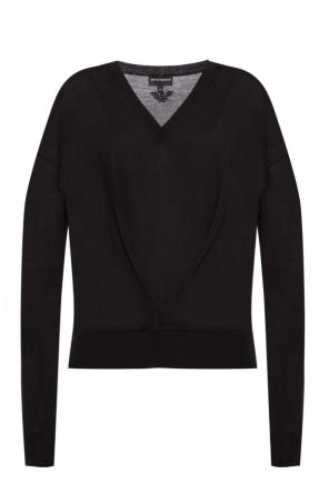 Sweater with a decorative cut-out od Emporio Armani