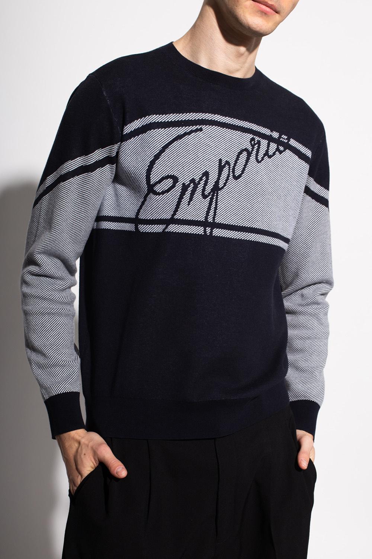 Emporio Armani Sweter z logo