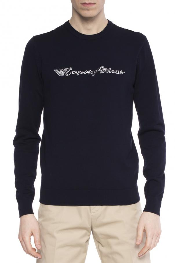 logo sweater emporio armani vitkac shop online. Black Bedroom Furniture Sets. Home Design Ideas