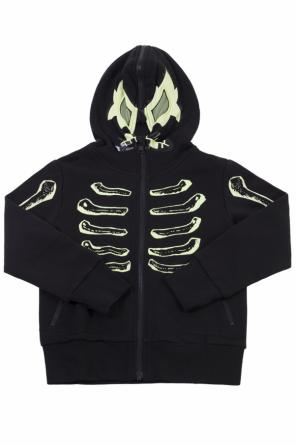 Skeleton motif sweatshirt od Stella McCartney Kids