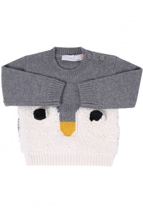 Penguin motif sweater od Stella McCartney Kids
