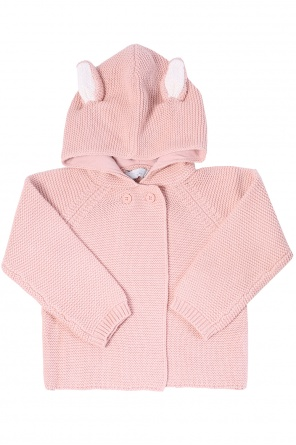 Ear-appliqued cardigan od Stella McCartney Kids