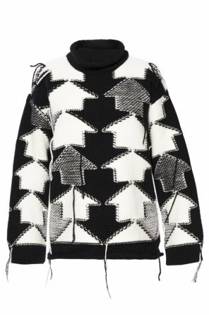 Patterned sweater with fringes od Stella McCartney