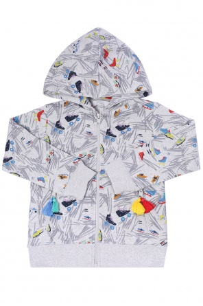 Hooded patterned sweatshirt od Stella McCartney Kids