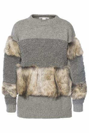 Fur-trimmed sweater od Stella McCartney