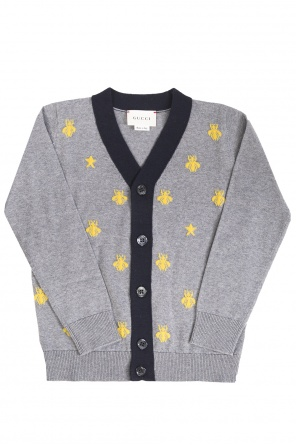Bee motif cardigan od Gucci Kids