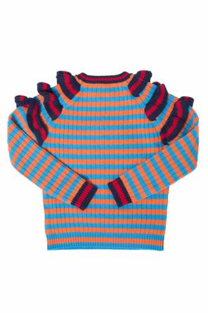 Patched striped sweater od Gucci Kids