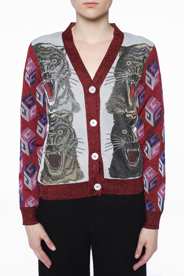 V-neck cardigan od Gucci