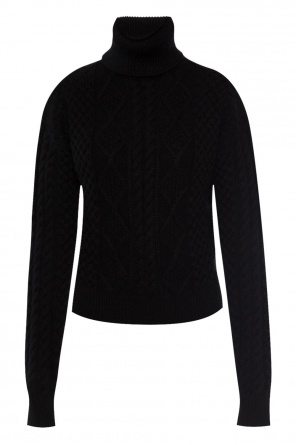 Braided turtleneck sweater od Saint Laurent Paris
