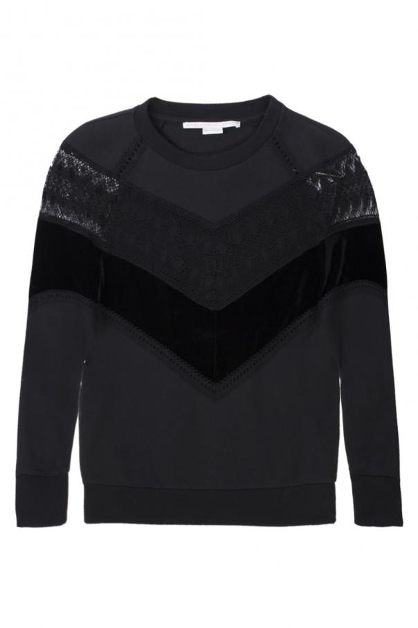Sweatshirt with lace inserts od Stella McCartney