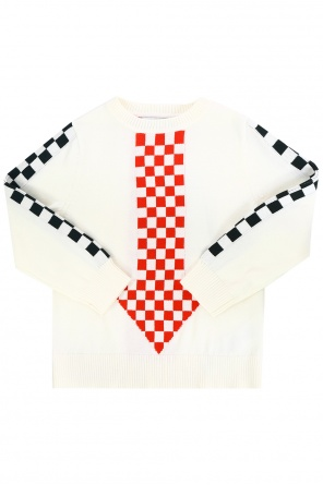 Checked arrow sweater od Stella McCartney Kids