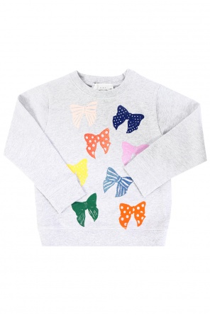 Sweatshirt with printed bows od Stella McCartney Kids
