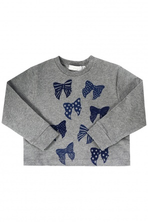 Sweatshirt with velvet bows od Stella McCartney Kids