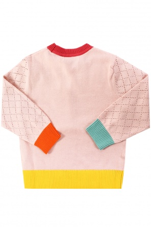 Sweater with openwork inserts od Stella McCartney Kids