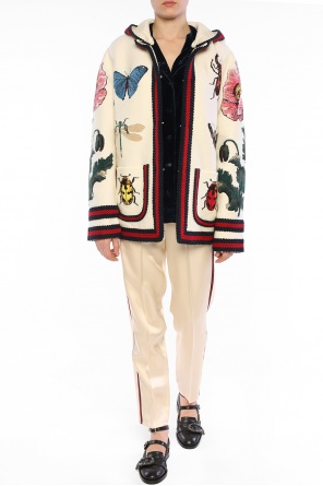 Cardigan with removable hood od Gucci