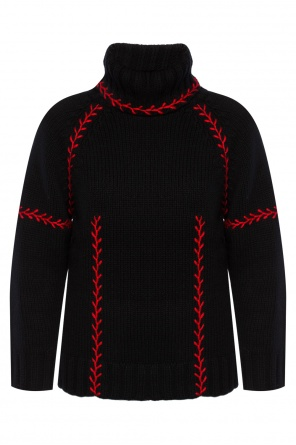 Appliqued turtleneck sweater od Alexander McQueen