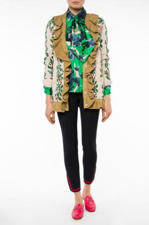 Patterned cardigan with ruffles od Gucci