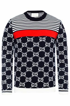 Logo-embroidered sweater od Gucci