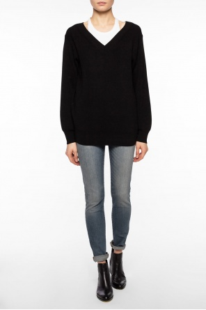 Sweater with contrasting tank top od T by Alexander Wang