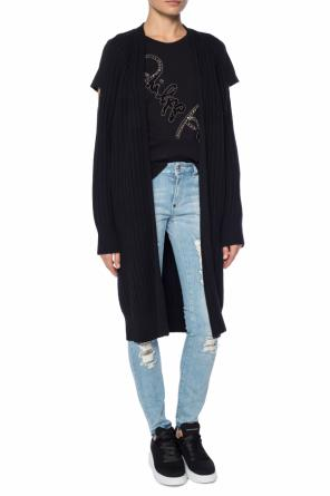 Cardigan with denuded shoulders od McQ Alexander McQueen