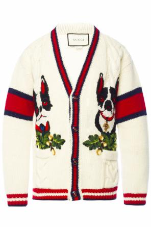 Patched cardigan od Gucci