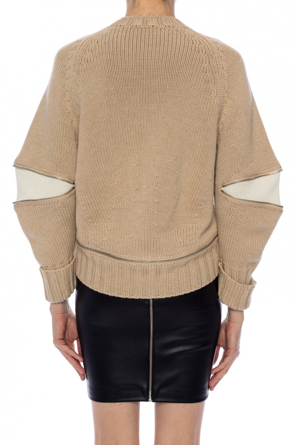 Zip detail braided sweater od Alexander McQueen