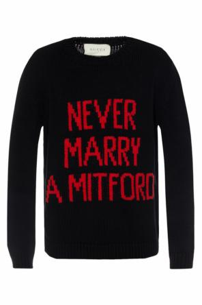 'never marry a mitford' sweater od Gucci