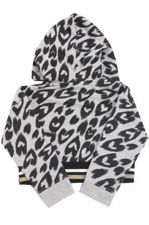 Sweatshirt with a heart pattern od Stella McCartney Kids