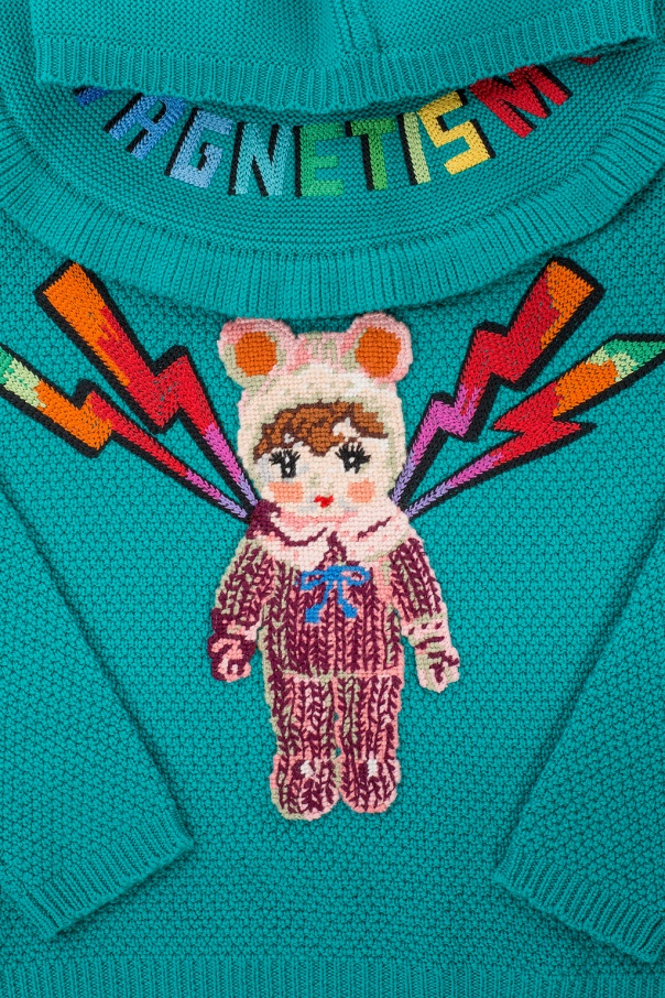 Appliquéd sweater od Gucci Kids