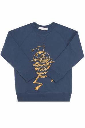 Sweatshirt with a bee motif od Stella McCartney Kids