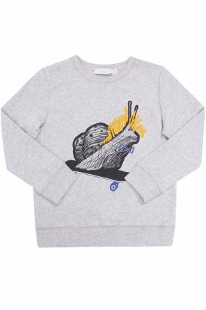 Sweatshirt with a snail-shaped print od Stella McCartney Kids