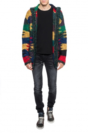 Jacquard-knitted cardigan with pockets od Saint Laurent