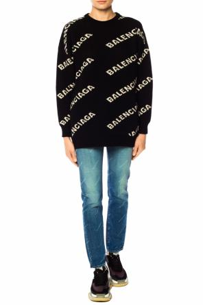 Logo-embroidered sweater od Balenciaga