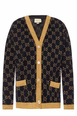 Logo-embroidered cardigan od Gucci