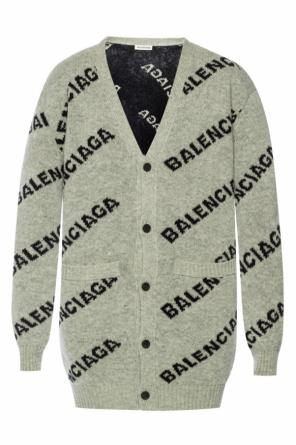 Logo-embroidered cardigan od Balenciaga