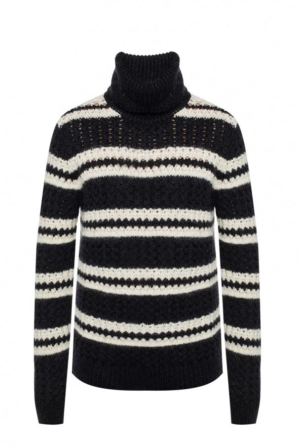 a0e5d3846cf58 Turtleneck top with a striped pattern Saint Laurent - Vitkac shop online